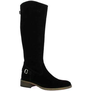 Chaussures Femme Bottes ville Impact Bottes cuir velours Noir