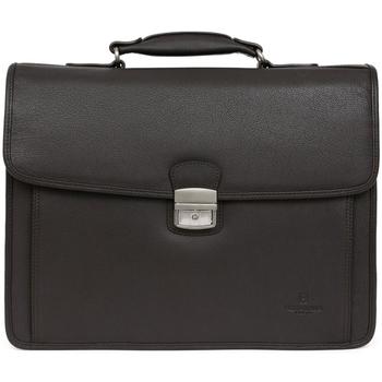 Sacs Homme Sacs de voyage Hexagona Cartable  en cuir Ref 54444 Noir 38*28*14 Noir