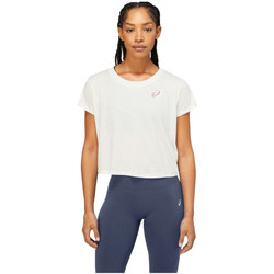 Vêtements Femme T-shirts manches courtes Asics Nagare SS Top Blanc