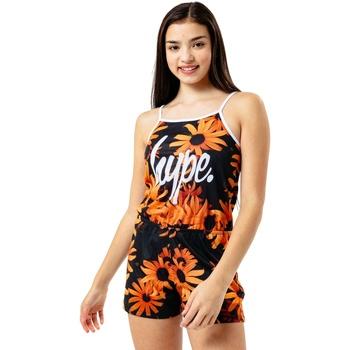 Vêtements Fille Combinaisons / Salopettes Hype  Noir / orange