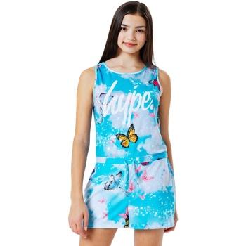 Vêtements Fille Combinaisons / Salopettes Hype  Bleu / blanc