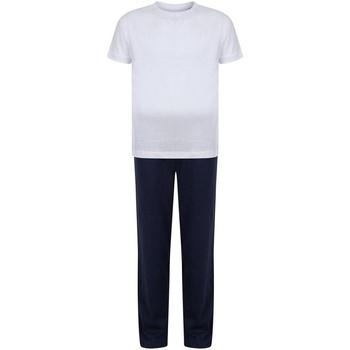 Vêtements Fille Pyjamas / Chemises de nuit Towel City TC59 Blanc / bleu marine