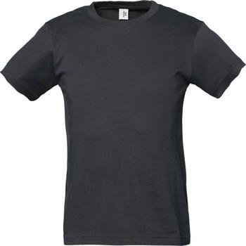 Vêtements Garçon Et acceptez notre Polique de Protection des Données Tee Jays TJ1100B Gris foncé
