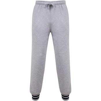 Vêtements Pantalons Front Row FR640 Gris chiné / bleu marine