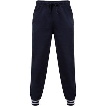 Vêtements Pantalons Front Row FR640 Bleu marine / gris chiné