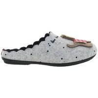 Chaussures Femme Chaussons La Maison De L'espadrille 90574 Gris