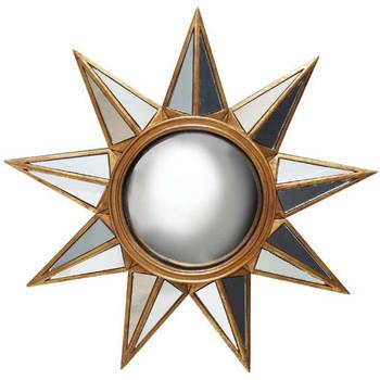 Maison & Déco Miroirs Chehoma Miroir convexe soleil doré 34cm Doré