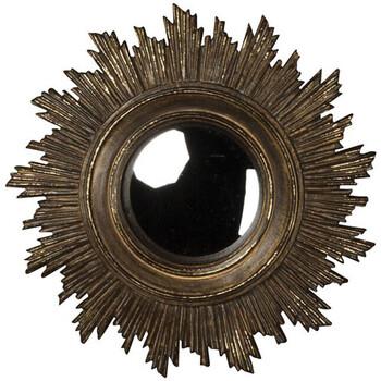 Maison & Déco Miroirs Chehoma Miroir convexe soleil doré antique 18cm Doré