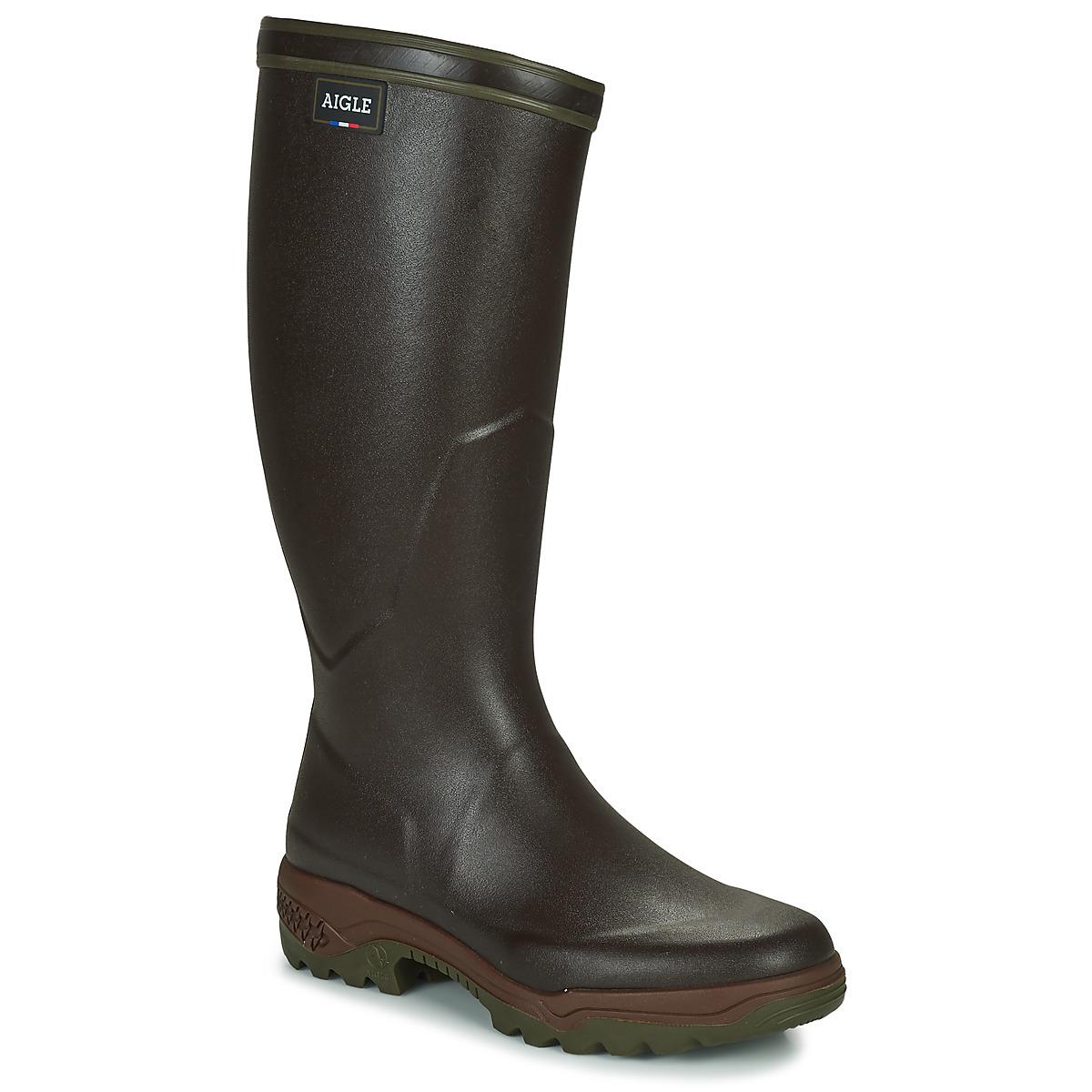 aigle parcours 2 brun livraison gratuite avec chaussures bottes de pluie homme. Black Bedroom Furniture Sets. Home Design Ideas