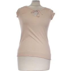 Vêtements Femme Tops / Blouses Etam Top Manches Courtes  34 - T0 - Xs Rose