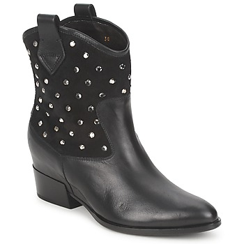 Bottines / Boots Alberto Gozzi GIANNA VELOUR-NERO 350x350