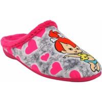 Chaussures Fille Chaussons Vulca Bicha Rentre à la maison fille  1292 fuxia Gris