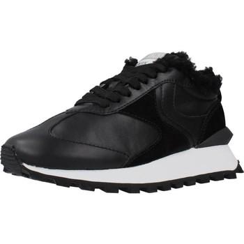 Chaussures Femme Baskets basses Voile Blanche QWARK FUR Noir