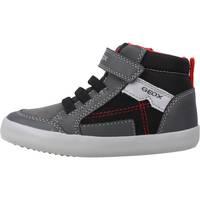 Chaussures Garçon Bottes Geox B GISLI BOY Gris