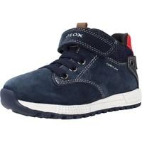Chaussures Garçon Bottes Geox B ALBEN BOY Bleu