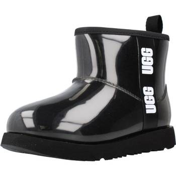 Chaussures Fille Bottes UGG K CLASSIC CLEAR MINI II Noir