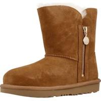 Chaussures Fille Bottes de neige UGG K BAILEY ZIP SHORT Marron