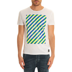 T-shirts manches courtes Jack & Jones Tee Shirt Mc City  Blanc