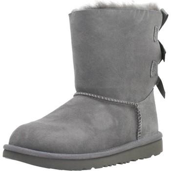 Chaussures Fille Bottes de neige UGG K BAILEY BOW II Gris