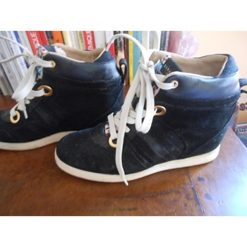 Chaussures Femme Baskets montantes Serafini SNEAKERS daim de cuir Noir