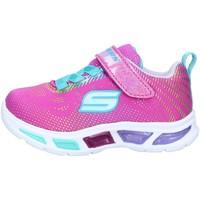 Chaussures Fille Baskets basses Skechers 10959 BASKETS enfant Rose