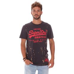 Vêtements Homme T-shirts manches courtes Superdry M10006YR Gris