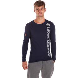 Vêtements Homme T-shirts manches longues Superdry M60505POF1 Bleu