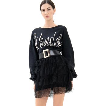 Vêtements Femme Robes courtes Fracomina FR21WD6002F400N5 Noir