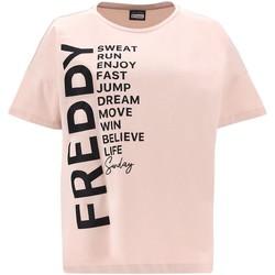 Vêtements Femme T-shirts manches courtes Freddy F1WSDT1 Rose