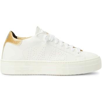 Chaussures Femme Baskets basses P448 Thea Paillettes Dores Blanc Blanc