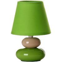 Maison & Déco Lampes à poser Unimasa Lampe galet céramique 24.5 cm Vert