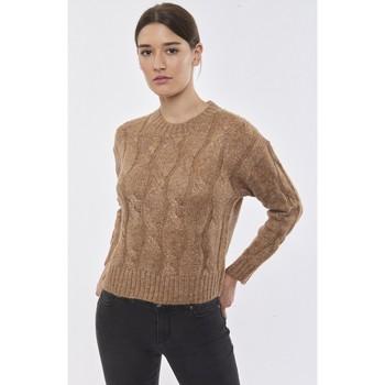 Vêtements Femme Pulls Best Mountain Pull droit à fils métallisés CAMEL