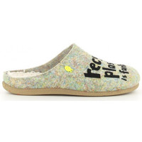 Chaussures Femme Chaussons Hot Potatoes LUNGAU 64631 Gris