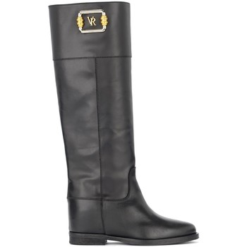 Chaussures Femme Bottes ville Via Roma 15 Stivale nero con VR dorata incorniciata Noir