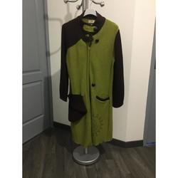 Vêtements Femme Manteaux Colline manteau long en laine taille S/M Vert