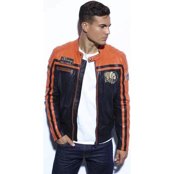Vêtements Homme Blousons Daytona PERKINS BLACK/ORANGE Orange