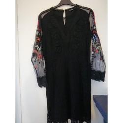 Vêtements Femme Robes courtes Desigual Robe dentelle noire Noir