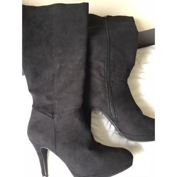 Chaussures Femme Bottes ville éram bottes cuir daim noir Noir