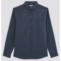 Vêtements Homme Chemises manches longues Brice Chemise Regular Unie Flanelle Bleu Chiné