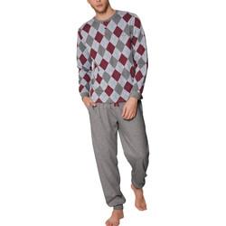Vêtements Homme Pyjamas / Chemises de nuit Admas For Men Pyjama tenue d'intérieur pantalon et haut Rombos Admas Gris