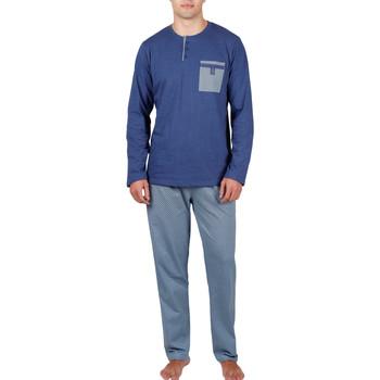 Vêtements Homme Pyjamas / Chemises de nuit Admas For Men Pyjama tenue d'intérieur pantalon et haut Mercury Admas Bleu