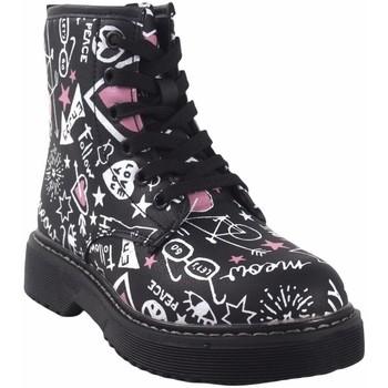 Chaussures Fille Boots Bubble Bobble Butin fille  a3484 noir Noir