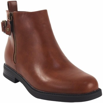 Chaussures Fille Boots Bubble Bobble Bottine fille  a3505 cuir Marron