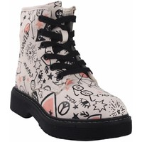Chaussures Fille Boots Bubble Bobble Butin fille  a3484 blanc Blanc