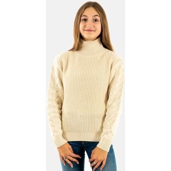Vêtements Fille Pulls Molly Bracken mmla820a21 ecru beige