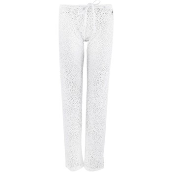 Vêtements Femme Pantalons fluides / Sarouels Banana Moon Pantalon  Seethrough Maelys Blanc BLANC