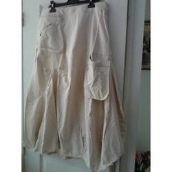 Vêtements Femme Jupes Sans marque ensemble jupe +blouson marque 123 taille42 écrus Beige