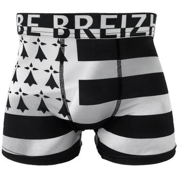 Sous-vêtements Homme Boxers Bdbox Boxer Homme Microfibre BRETON Noir Gris MADE IN FRANCE Noir