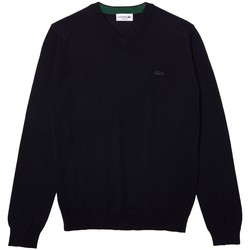 Vêtements Homme Sweats Lacoste Pull col V en laine  Ref 54850 166 Marine Bleu
