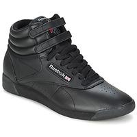 Chaussures Baskets montantes Reebok Classic FREESTYLE HI Noir